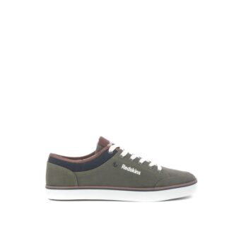 pronti-087-114-redskins-baskets-sneakers-chaussures-a-lacets-toiles-kaki-fr-1p